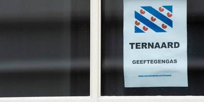Protest tegen gaswinning in Ternaard.