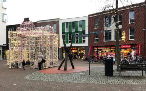 Het plein in Kloosterveste.