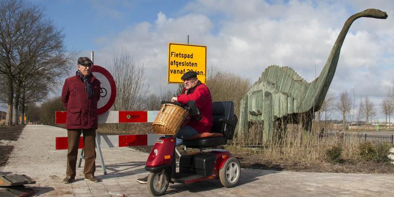 Sporen oude dierentuin in Emmen.