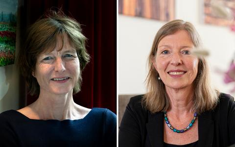 Dit zijn hoogleraren Linda Steg en Pauline Kleingeld van de RUG. Ze hebben net de prestigieuze Spinozapremie en Stevinpremie binnengesleept