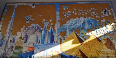 Een (zeer klein) deel van de bewuste puzzel. Foto: YouTube Krzysztof W