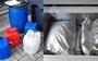 De drugs die is gevonden in het pand in Nieuw-Roden.