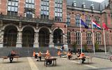 Protest studenten helpt niets. Universiteitsbibliotheek Groningen blijft dicht