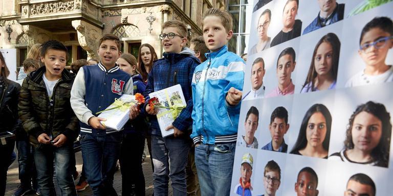 Actie voor het Kinderpardon in 2016. Foto ANP/Martijn Beekman