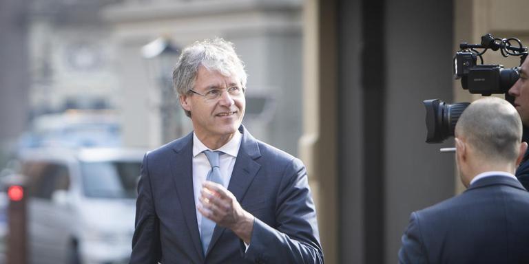 Arie Slob (minister voor Basis en Voortgezet onderwijs en Media) op het Binnenhof. FOTO ANP/Evert-Jan Daniels