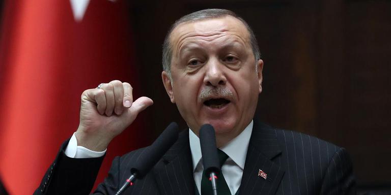 De Turkse president Recep Tayyip Erdogan. FOTO: AFP/Adem Altan