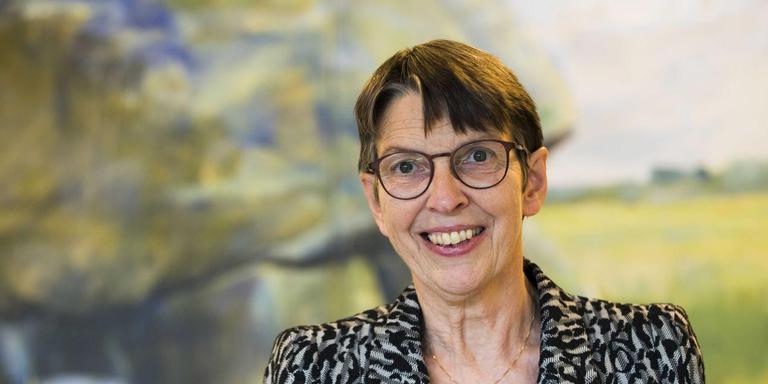Jetta Klijnsma als commissaris van de Koning in het provinciehuis van Drenthe. Foto: ANP/VINCENT JANNINK