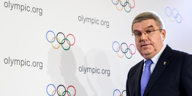 Thomas Bach, voorzitter van het Internationaal Olympisch Comite. AFP/Fabrice Coffrini