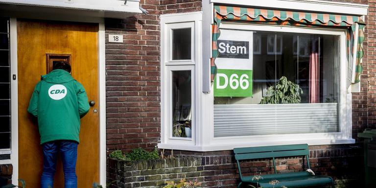Een enkeling voert campagne. Het merendeel zit thuis, weet alles beter en laat het overigens afweten. Foto Archief Hoge Noorden/Jacob van Essen