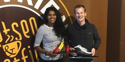 Anice Das en Frank Woltman. FOTO DVHN
