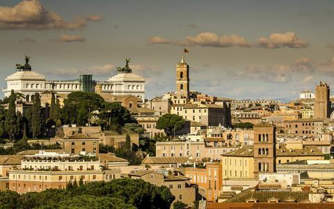 Lekker en lui eten in Rome