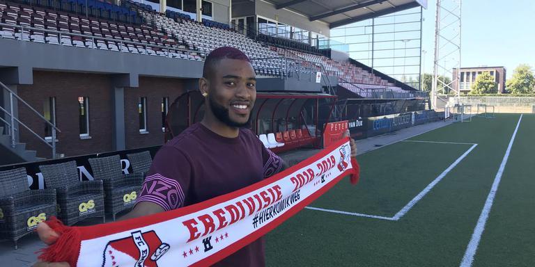 Jafar Arias, volgens FC Emmen-trainer Dick Lukkien een type Henny Meijer. Foto DvhN