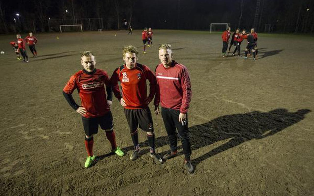 Vlnr Martijn Drent, Bert-Jan Haaijer en Marcel Smit. FOTO HUISMAN MEDIA