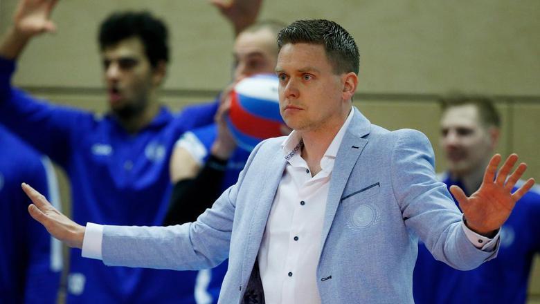 Lycurgus-coach Arjan Taaij was blij met het karakter dat zijn team had getoond in de wedstrijd tegen Orion. Foto: Archief ANP BAS