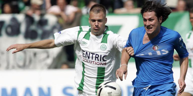 Danny Buijs (links) speelde vroeger voor FC Gronigen. Hier in 2006. Foto: ANP