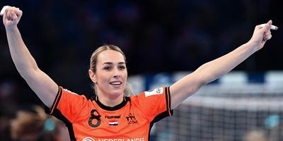 Oranje-handbalster Lois Abbingh. Foto Archief/AFP