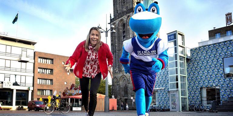 Racedirector Elske Dijkstra: ,,Een mascotte kan juist het gevoel benadrukken dat dit evenement van iedereen is.'' Foto: Peter Wassing
