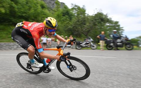 Wout Poels in actie tijdens de Tour de France.
