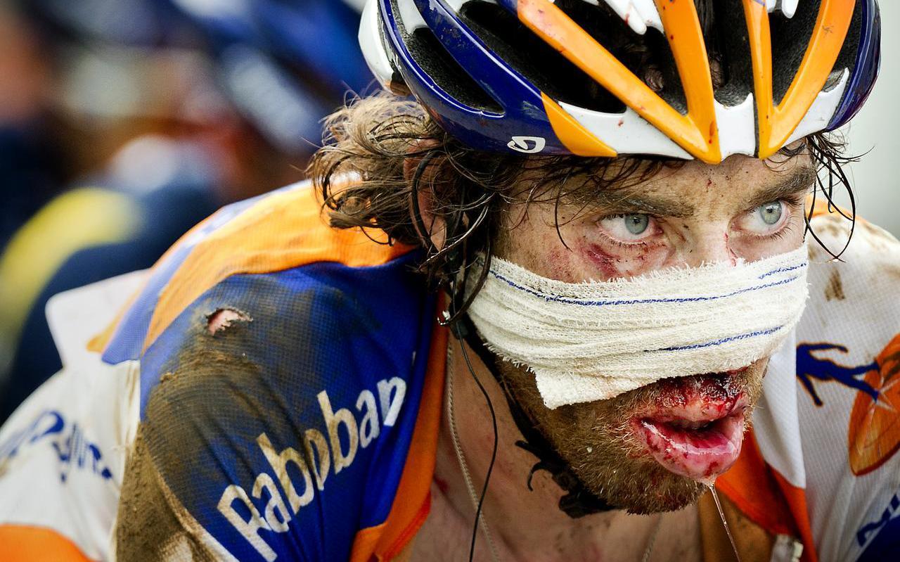 Laurens ten Dam in de Tour de France van 2014.