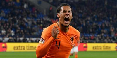 Virgil van Dijk na zijn late gelijkmaker tegen Duitsland.