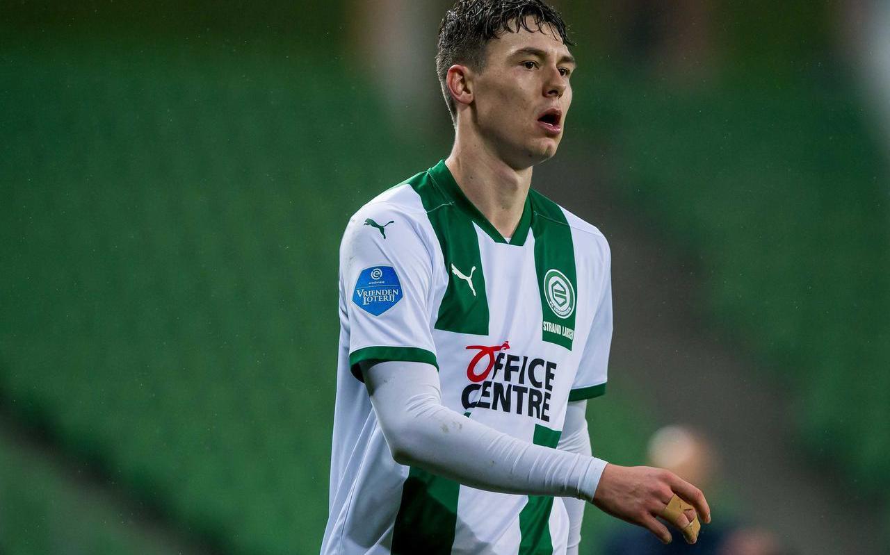 Jørgen Strand Larsen heeft zijn draai al gevonden bij FC Groningen. ,,Ik ben met een lach teruggekeerd.''