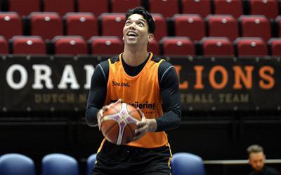 Arvin Slagter in het shirt van Oranje.