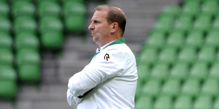 Jong FC Groningen-trainer Alfons Arts. Foto: Archief DvhN/JAN KANNING