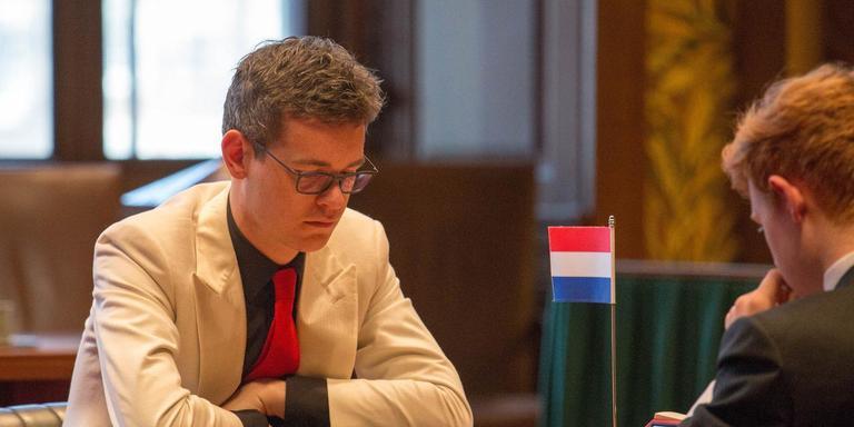 Dammer Roel Boomstra tijdens zijn WK-tweekamp tegen Jan Groenendijk. Foto eigen archief
