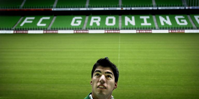 Luis Suarez in 2006; toen de 'nieuwe aankoop' van FC Groningen. Foto: Archief DvhN