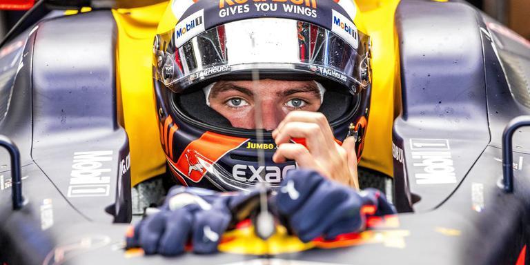 Max Verstappen tijdens de trainingssessie, gisteren, op het circuit van Monza.