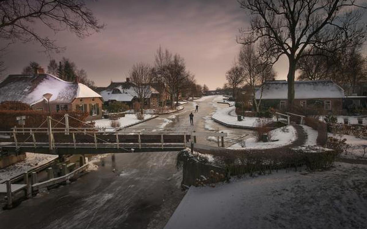 'Hollands licht' in Dwarsgracht, een dorp in de kop van Overijssel. FOTO'S THEO DE WITTE