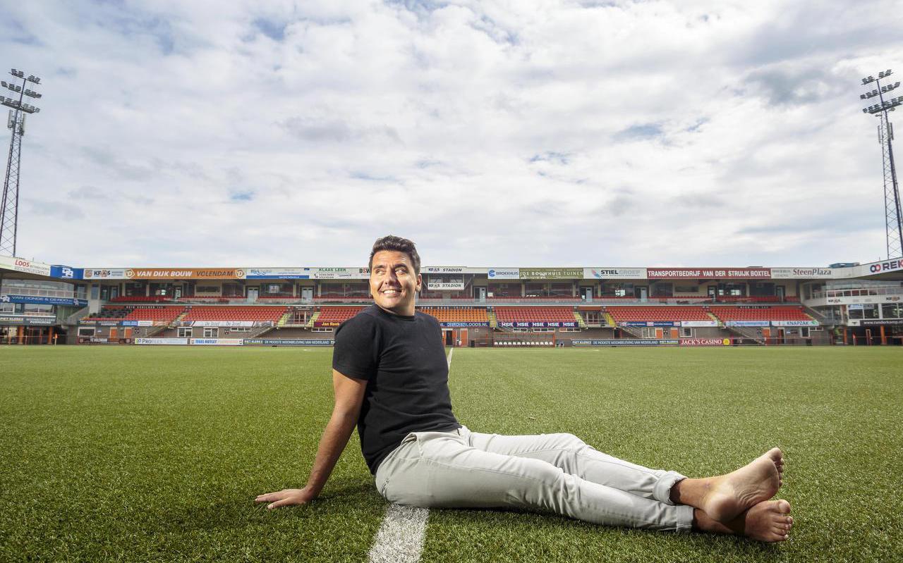 Jan Smit in het Kras Stadion van FC Volendam.