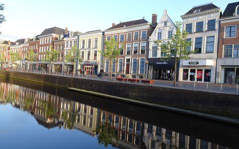 Aanblik van de binnenstad in Leeuwarden.