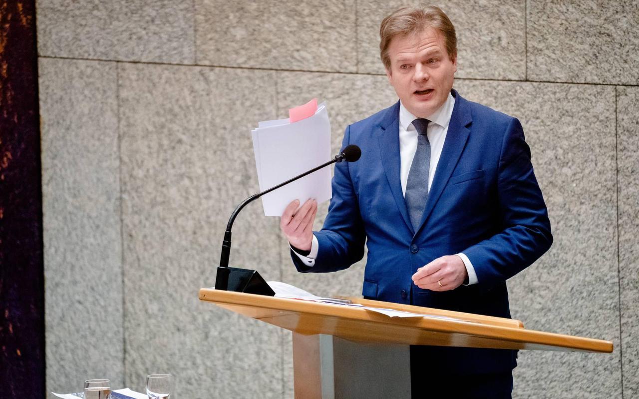 CDA-politicus Pieter Omtzigt in de Tweede Kamer.