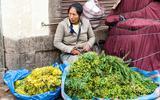 Peruaanse groenteverkoopster