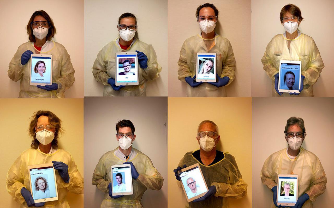 Via een smoelenboek kunnen de patiënten zien hoe de artsen en verpleegkundigen eruit zien.