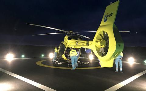 De Waddenhelikopter in actie.